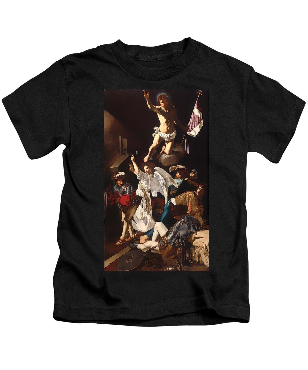 Painting Kids T-Shirt featuring the painting The Resurrection by Mountain Dreams