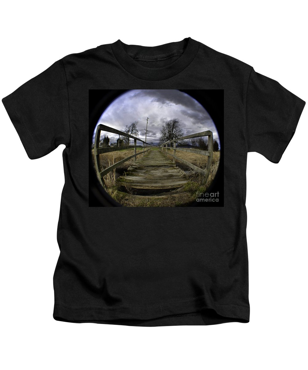 Art Kids T-Shirt featuring the photograph The Rickity Bridge by Clayton Bruster