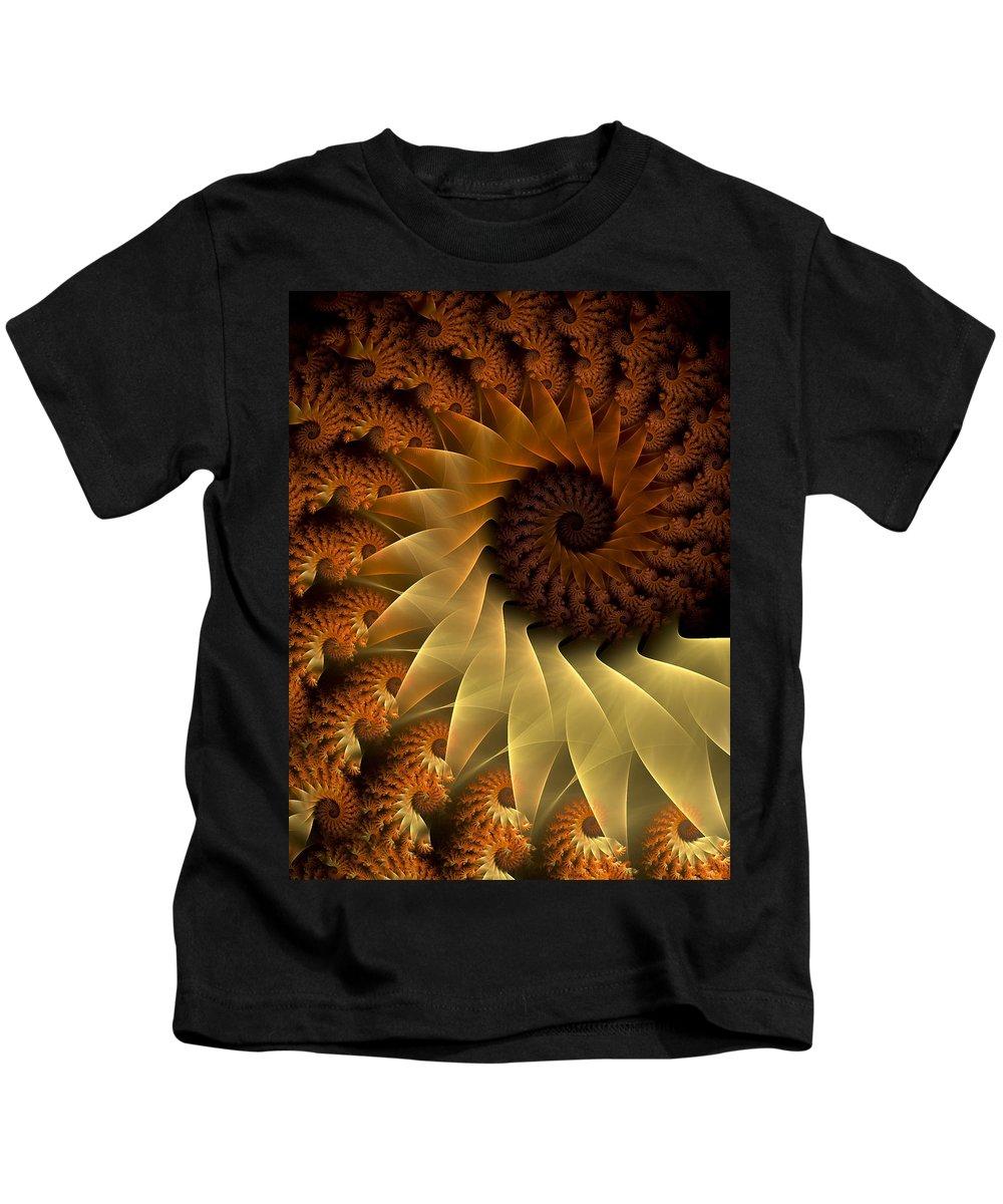Fractal Kids T-Shirt featuring the digital art The Rising Sun by Amorina Ashton