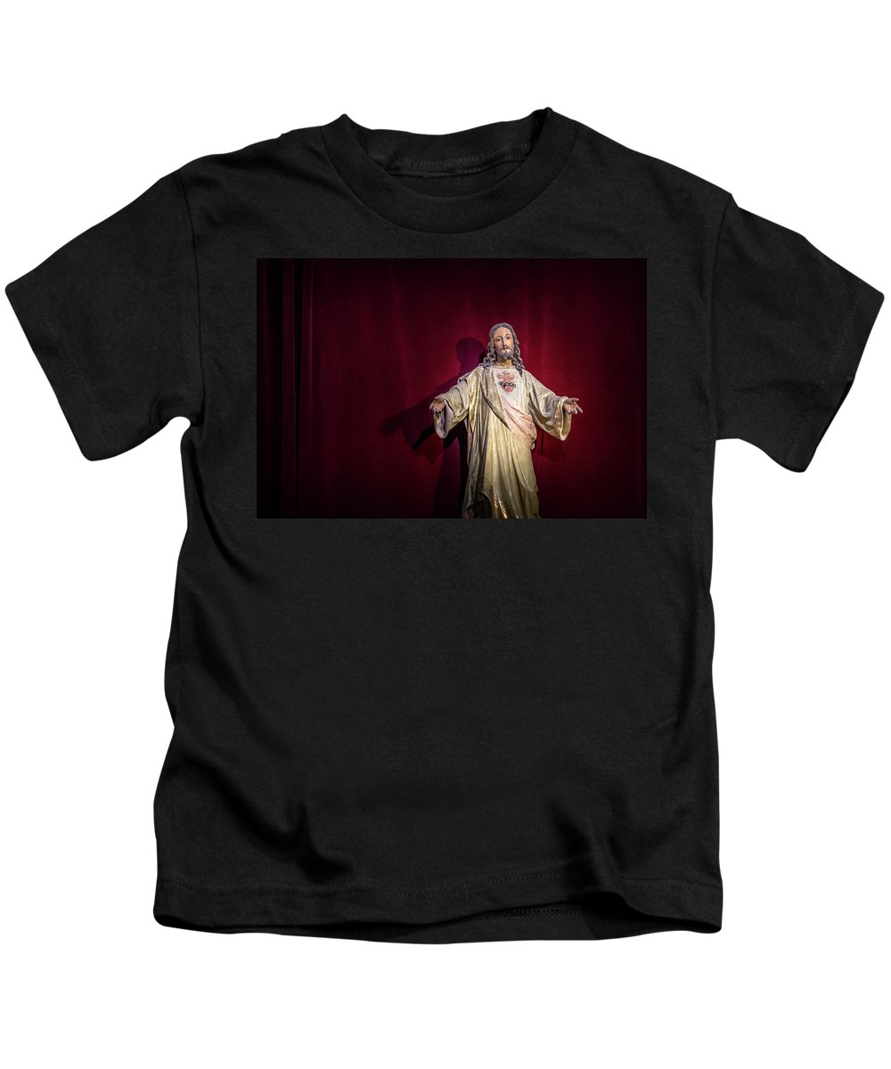 Catholic Religion Kids T-Shirt featuring the photograph The Sacred Heart by Peter Hayward Photographer