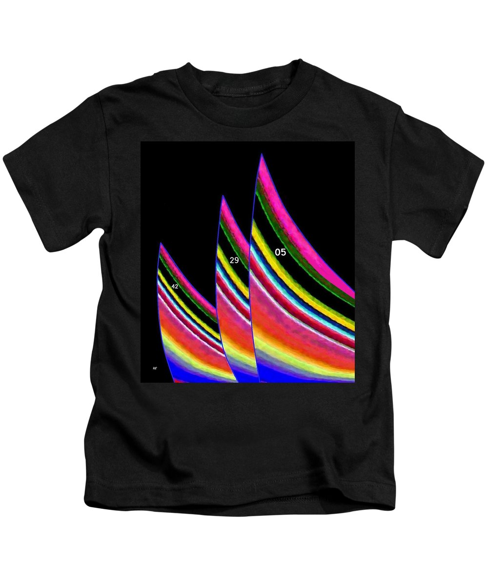 Sails Kids T-Shirt featuring the digital art The Sails by Will Borden
