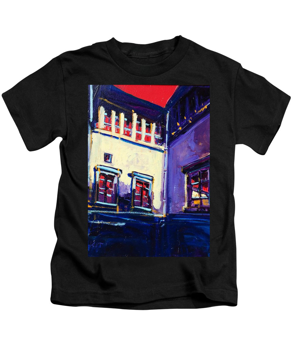 School Kids T-Shirt featuring the painting The School by Kurt Hausmann