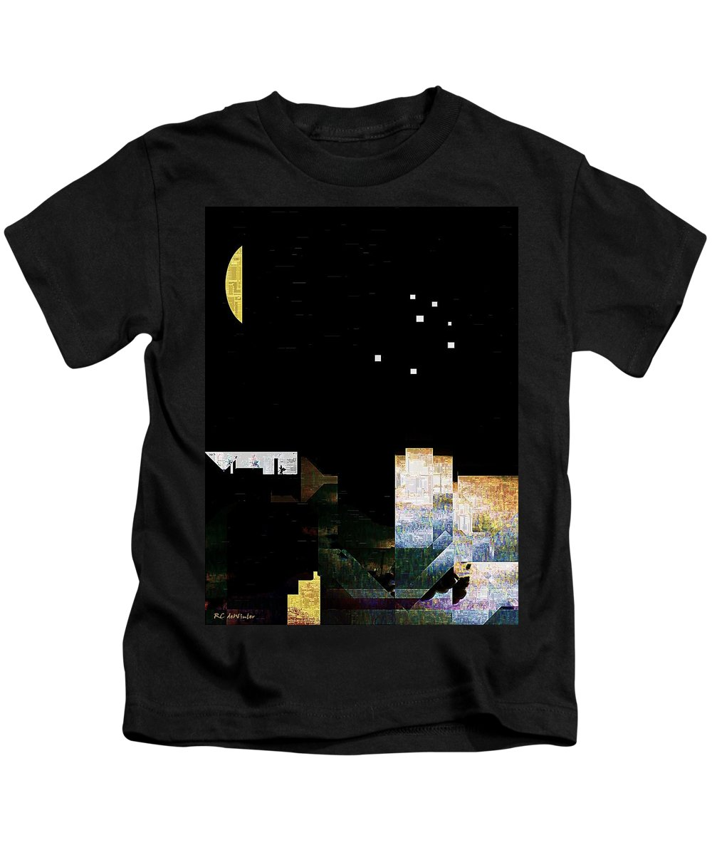 City Kids T-Shirt featuring the painting The Seven Sisters by RC DeWinter