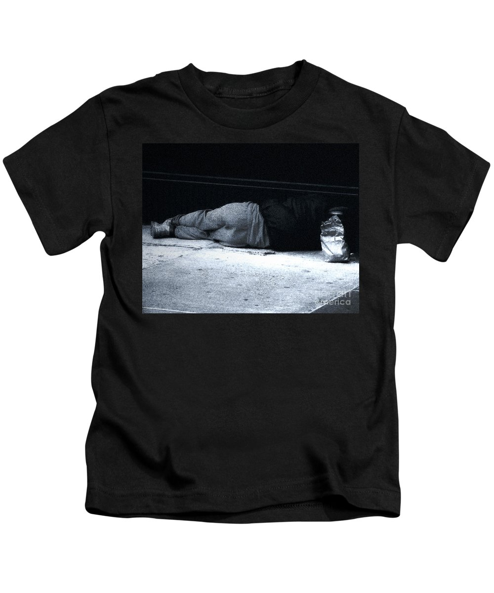 Homeless Kids T-Shirt featuring the photograph The Sidewalks Of New York by RC DeWinter