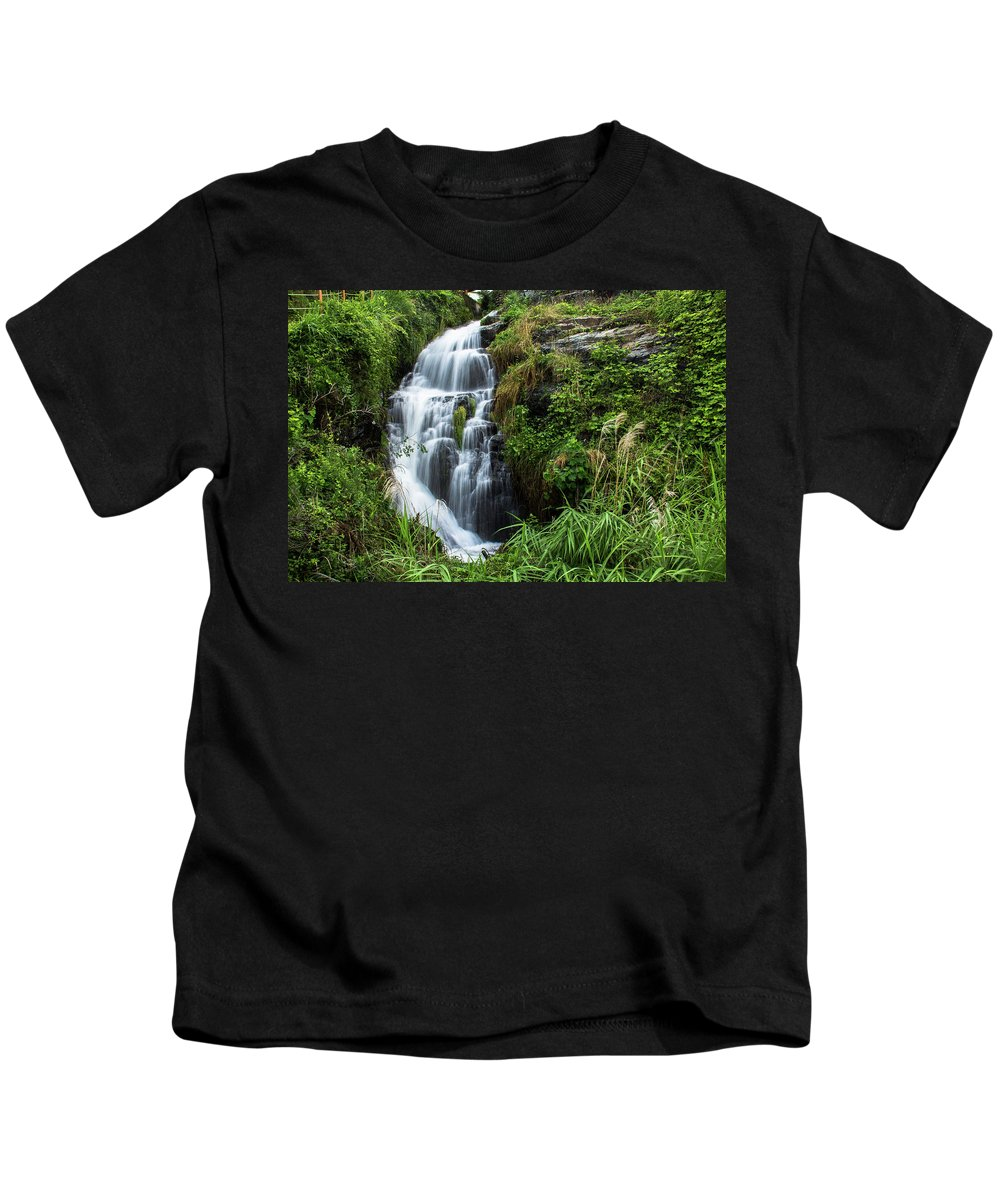 Nature Kids T-Shirt featuring the photograph The Slow Motion by Peteris Vaivars