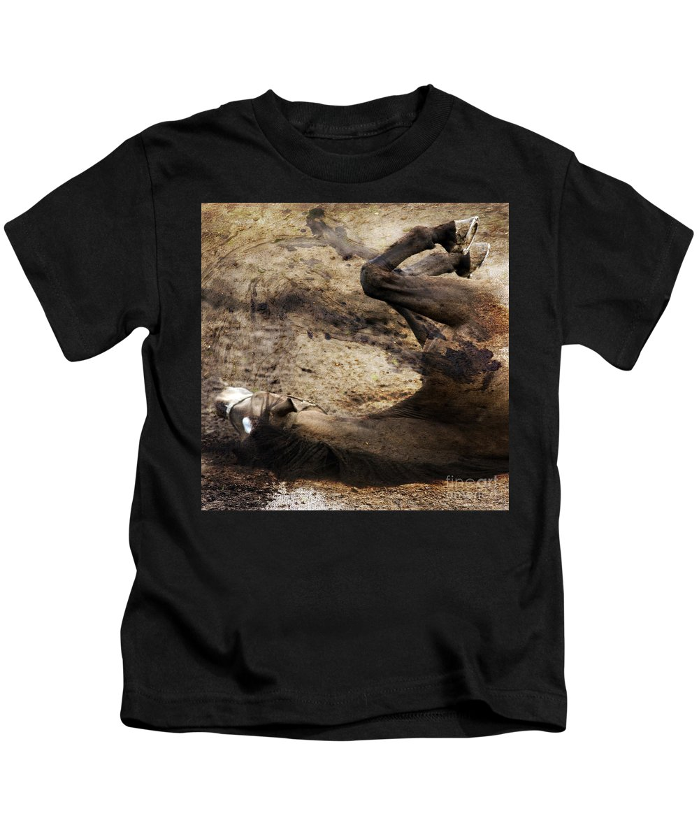 Horse Kids T-Shirt featuring the photograph The Smell Of The Soil by Angel Tarantella