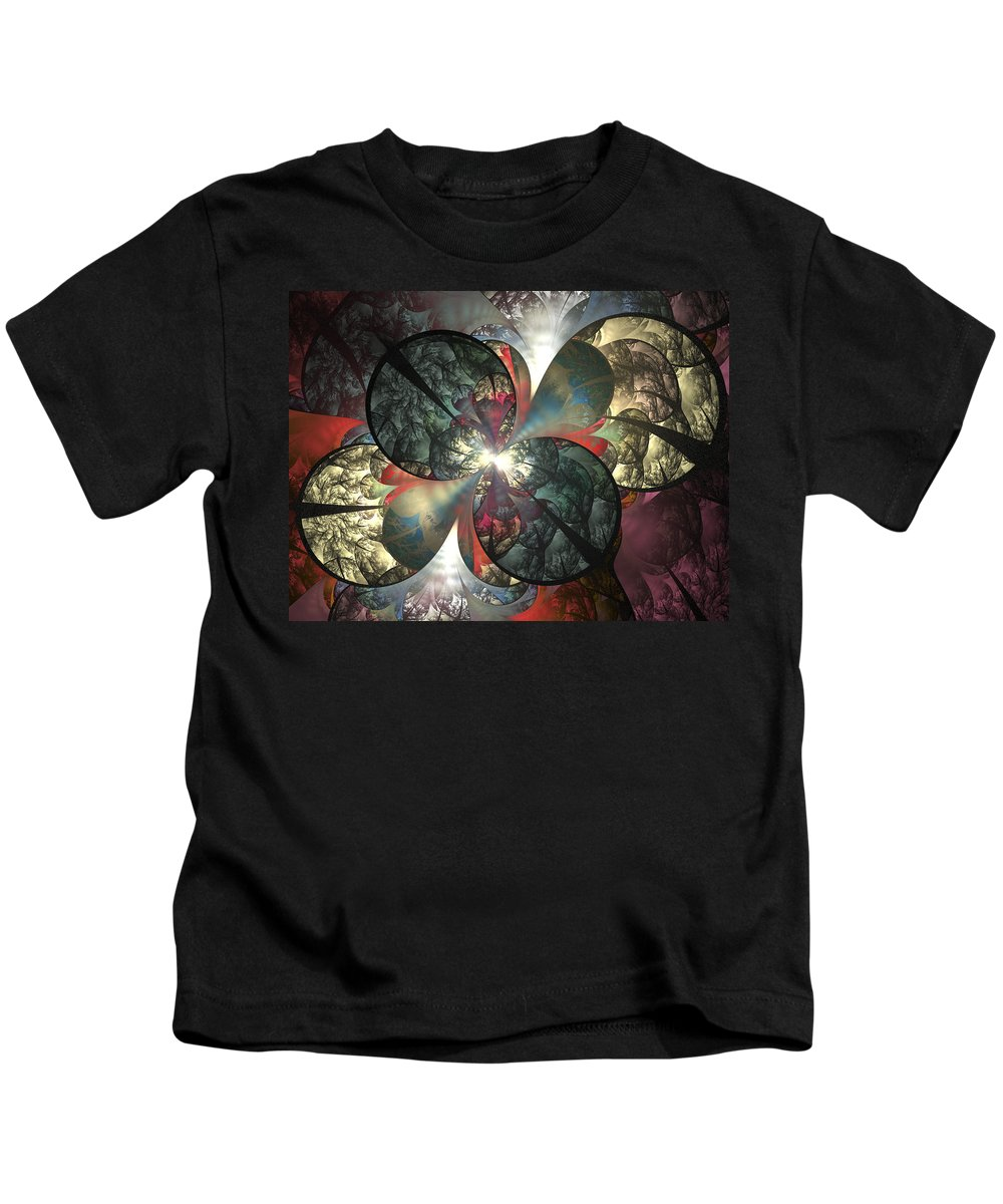 Fractal Kids T-Shirt featuring the digital art The Soft Touch by Amorina Ashton