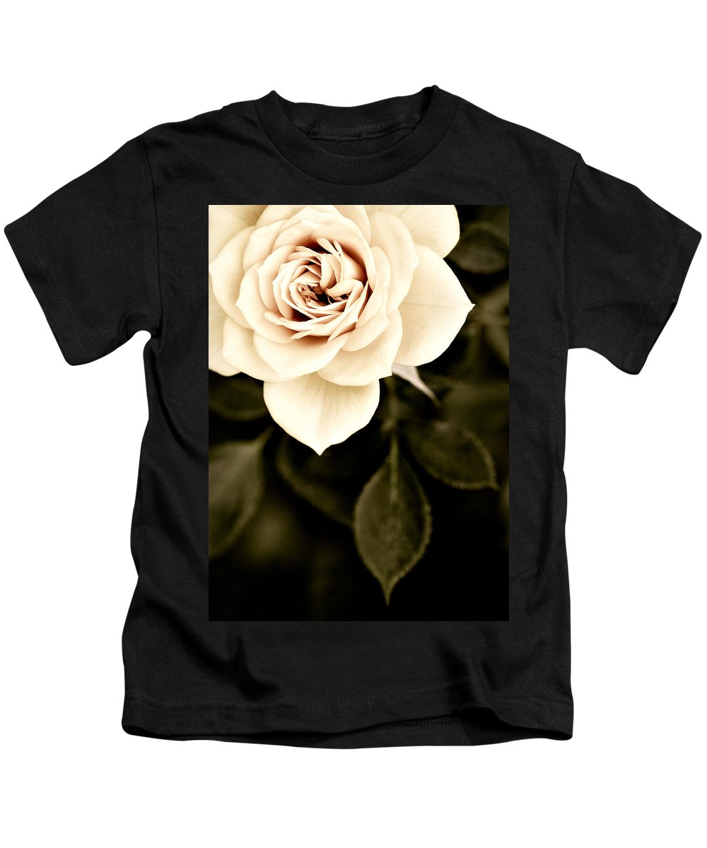 Rose Kids T-Shirt featuring the photograph The Softest Rose by Marilyn Hunt