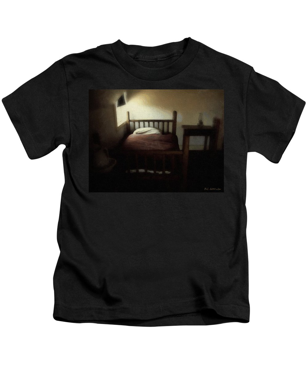 19th Century Kids T-Shirt featuring the painting The Spare Room by RC DeWinter