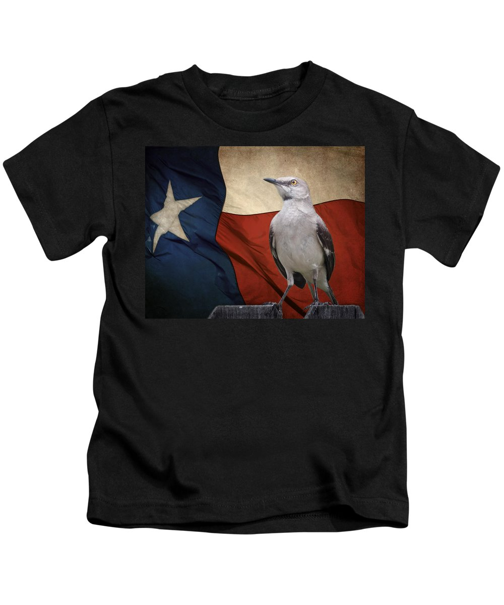 Animals Kids T-Shirt featuring the photograph The State Bird Of Texas by David and Carol Kelly