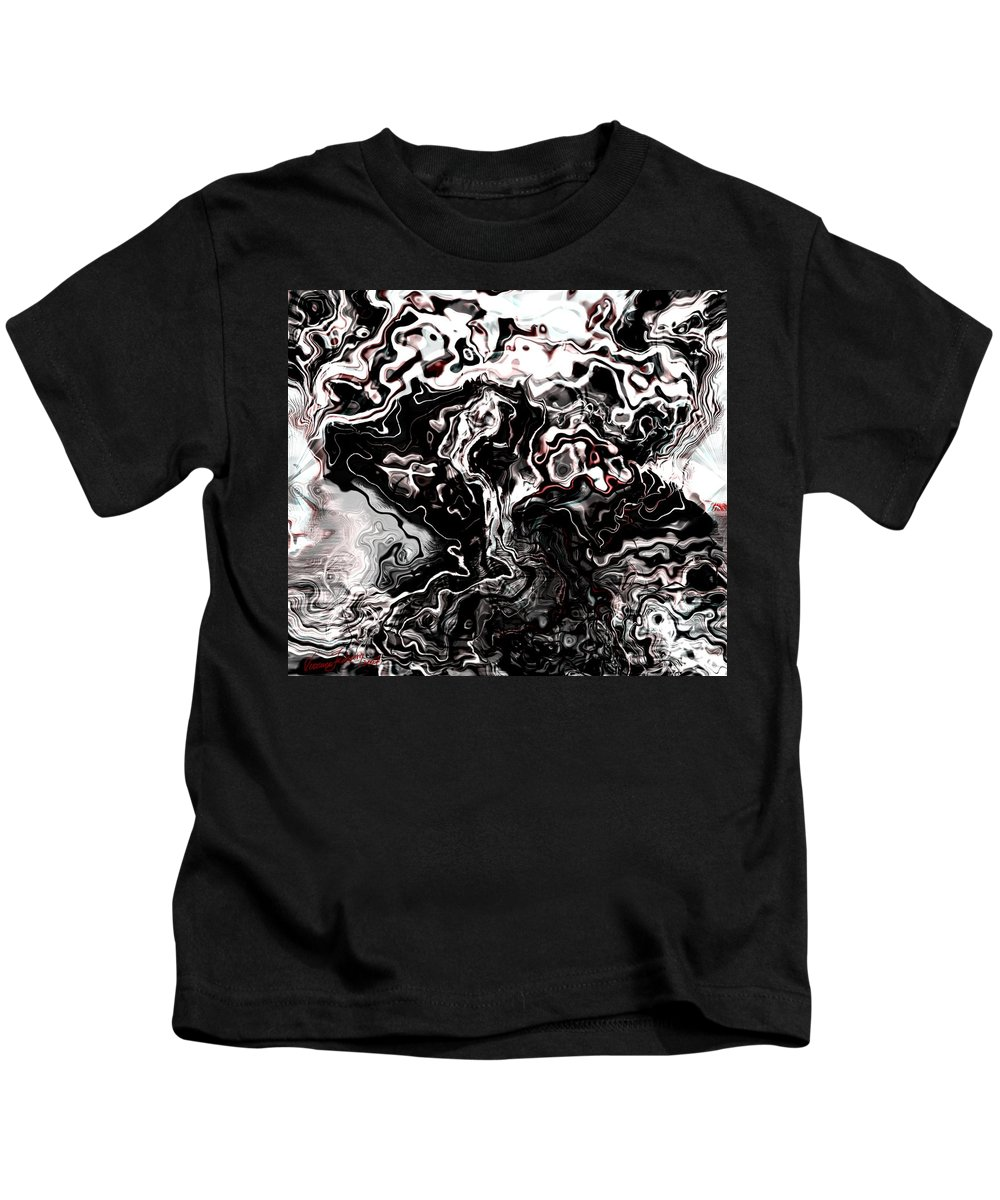 Storm Wind Clouds Nature Wind Kids T-Shirt featuring the digital art The Storm by Veronica Jackson