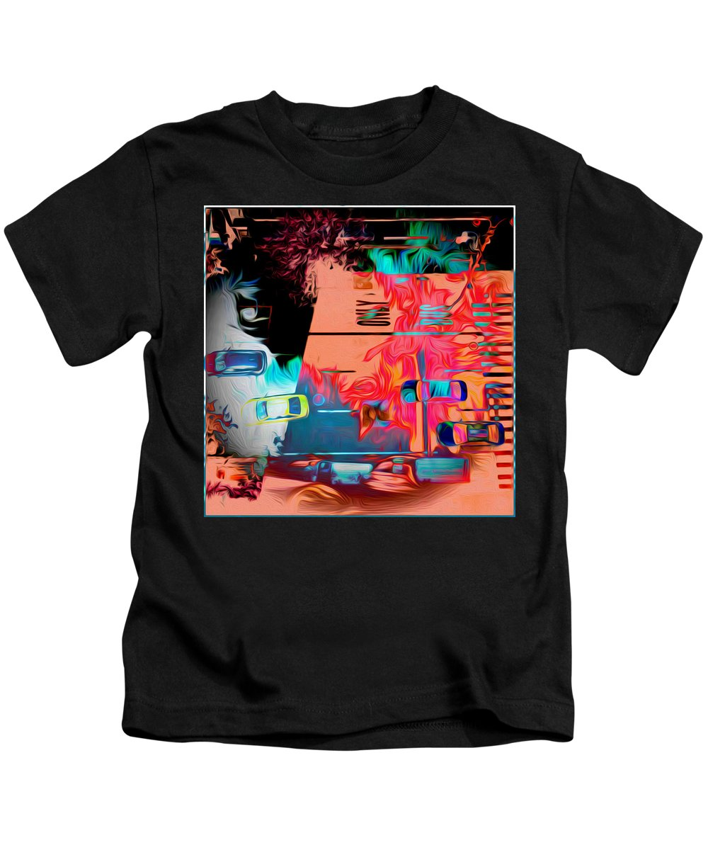 Photography Kids T-Shirt featuring the photograph The Street by Ryan Fox