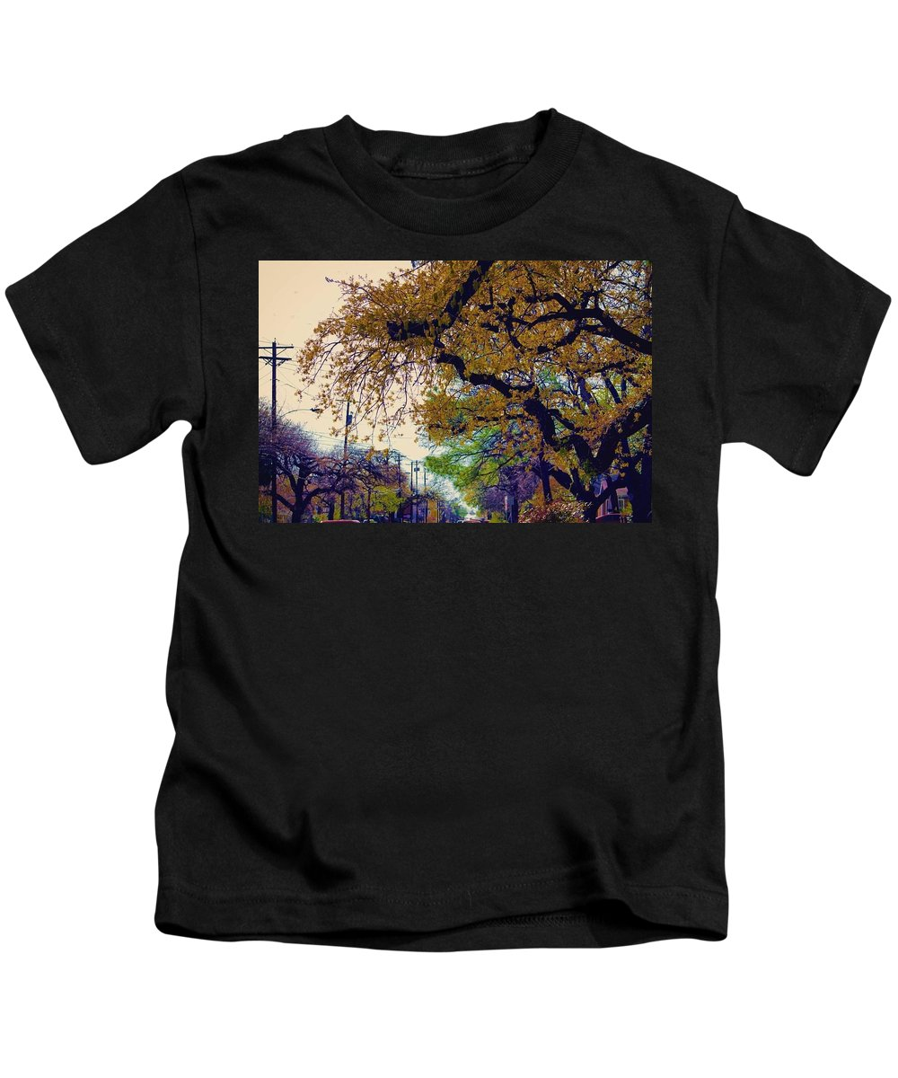 Landscape Kids T-Shirt featuring the photograph The Street Trees by Karl Thompson