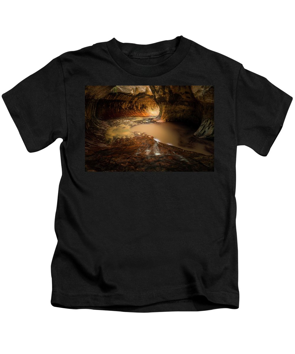 Zion Kids T-Shirt featuring the photograph The Subway - Zion National Park by Justin Bowen