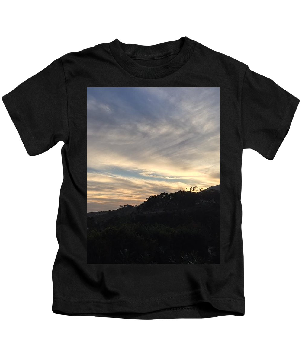 Sun Kids T-Shirt featuring the photograph The Sun's Slowly Sinking Into Sunset by Haven Stones LLC