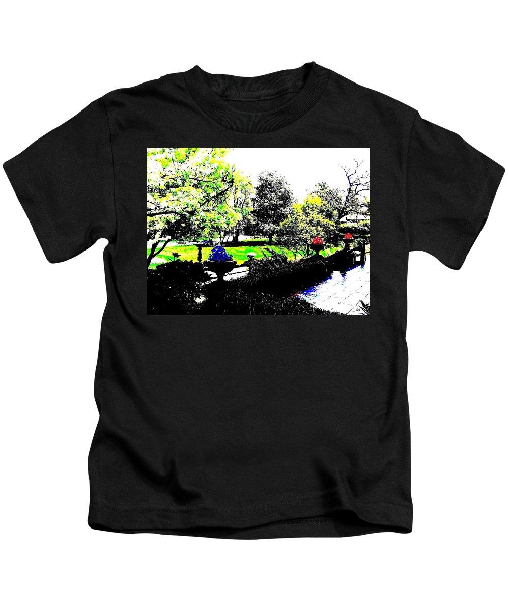 Terrace Kids T-Shirt featuring the digital art The Terrace by Will Borden