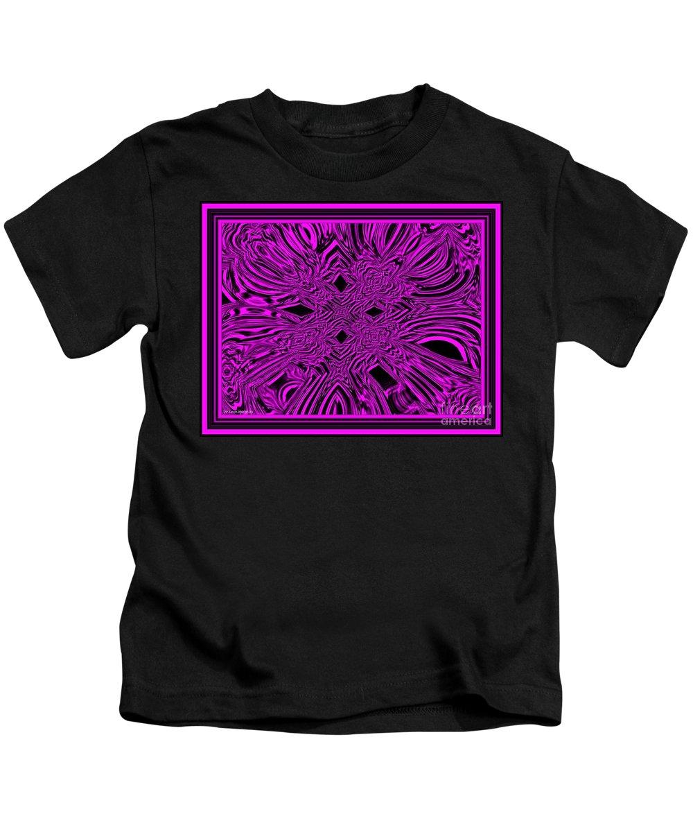 Pink Kids T-Shirt featuring the digital art The Throne by Debra Lynch