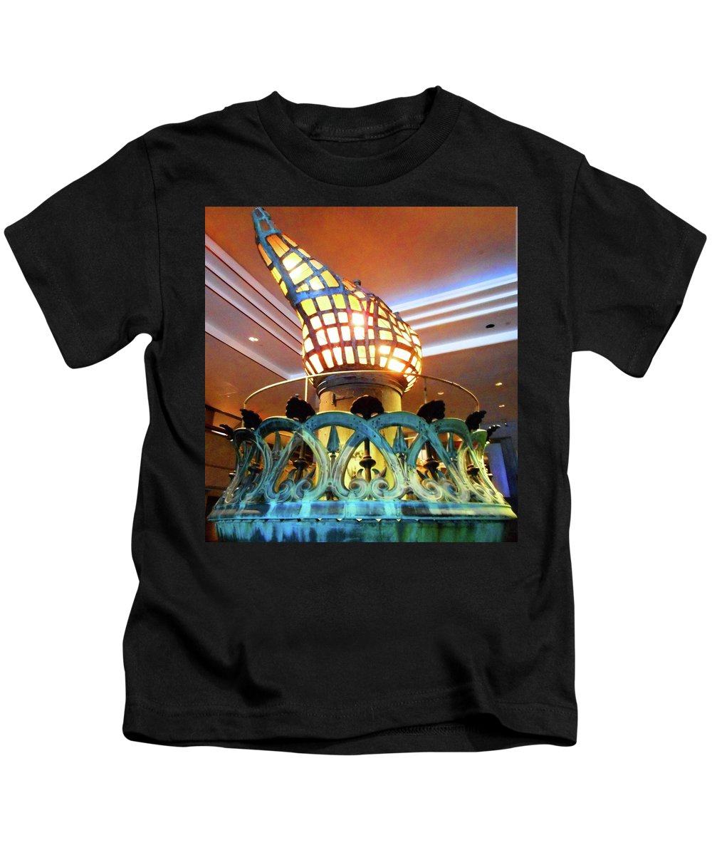 New York City Kids T-Shirt featuring the photograph The Torch 1 by Ron Kandt