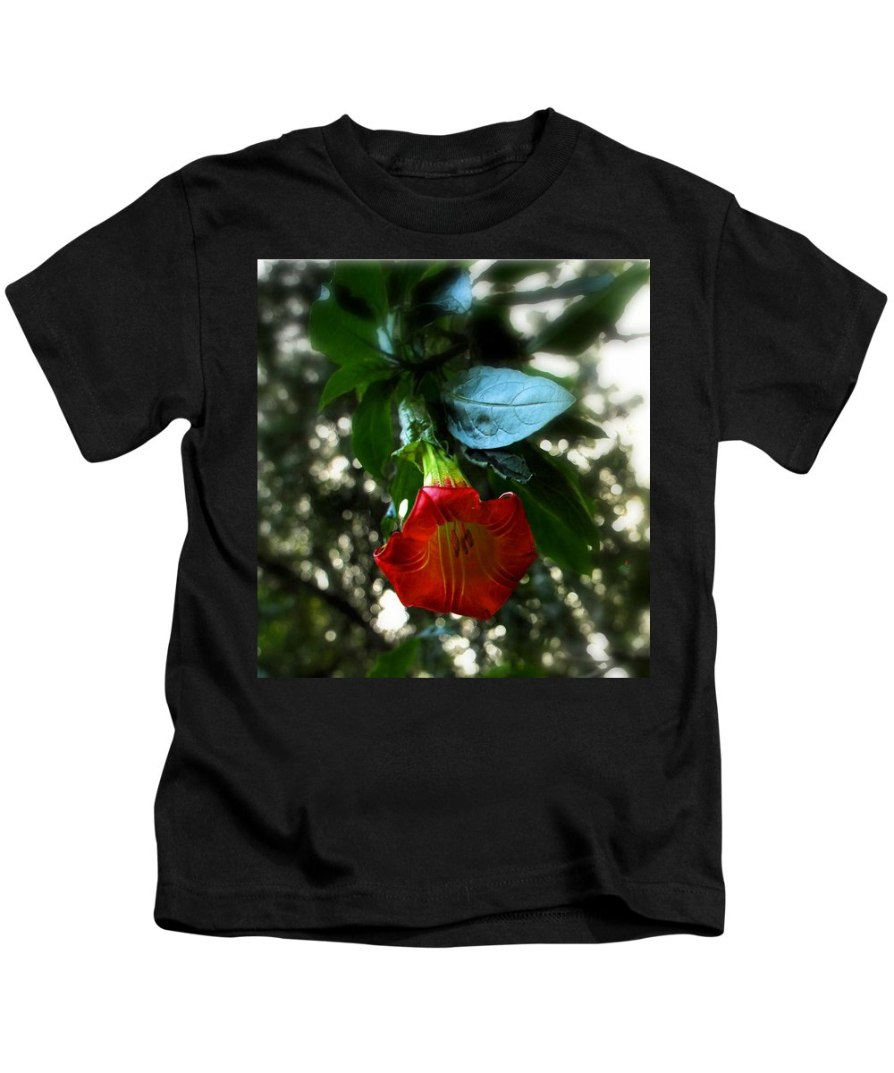 Flower Kids T-Shirt featuring the photograph The Trumpet Sounded by Donna Blackhall