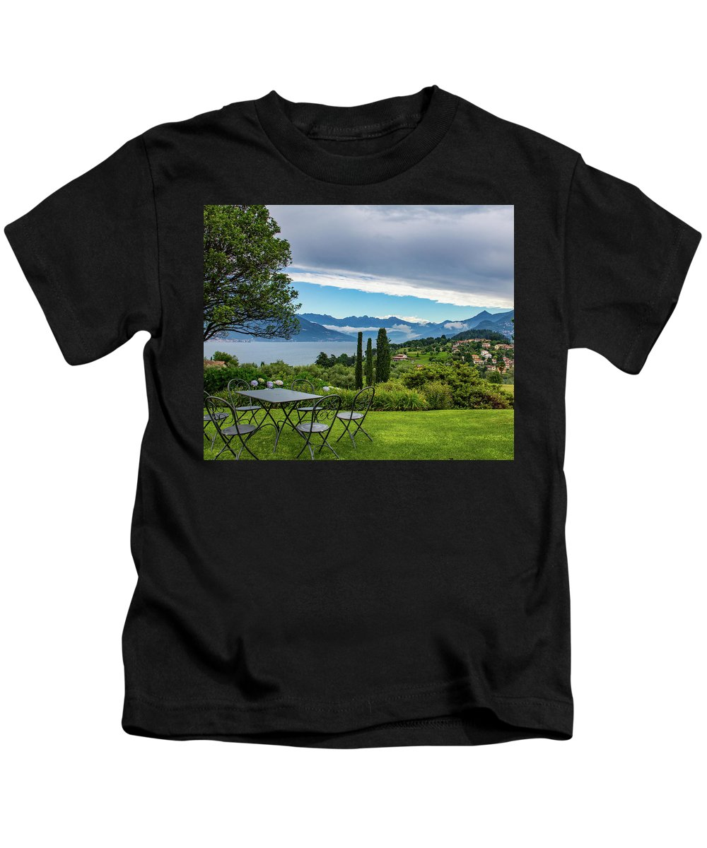Italy Kids T-Shirt featuring the photograph The View by Kathy Whitehurst
