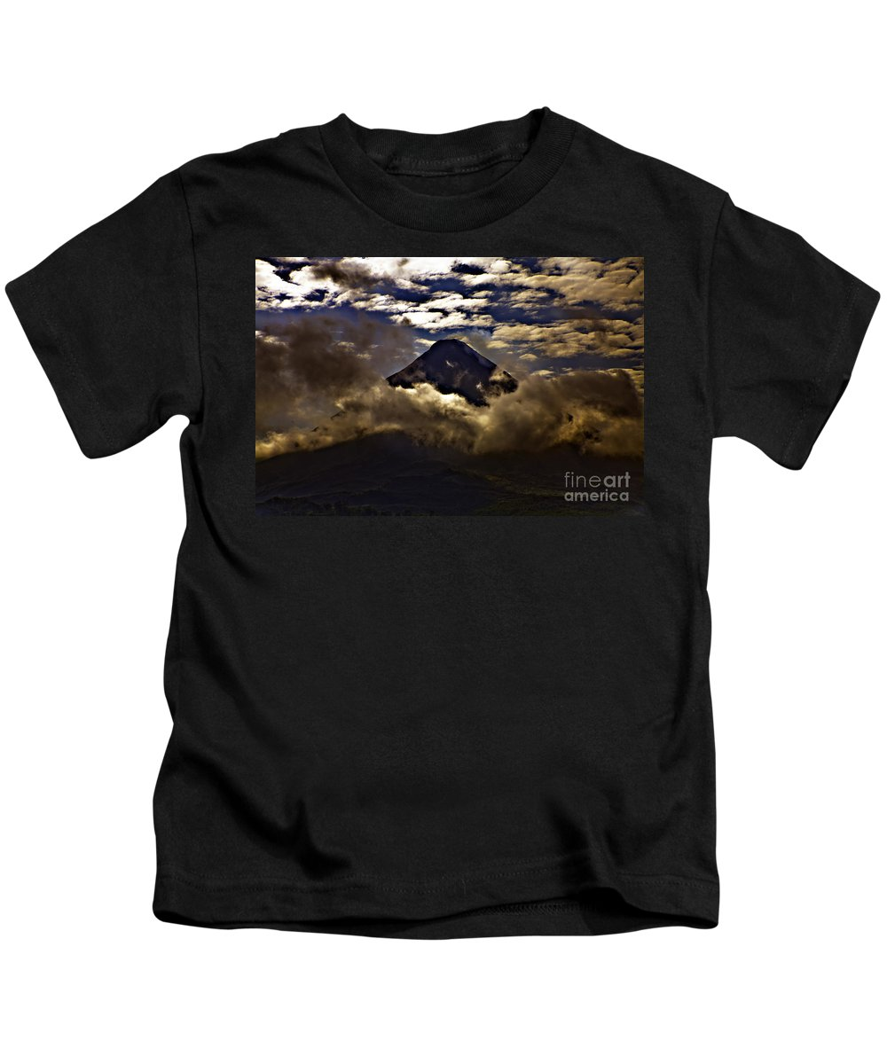 Volcano Kids T-Shirt featuring the photograph The Volcano by Madeline Ellis