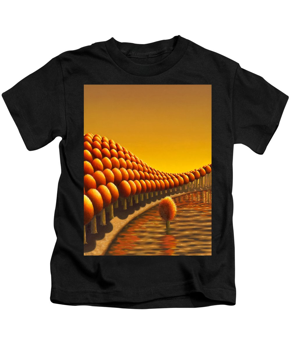 Tree Kids T-Shirt featuring the painting The Weird One by Patricia Van Lubeck