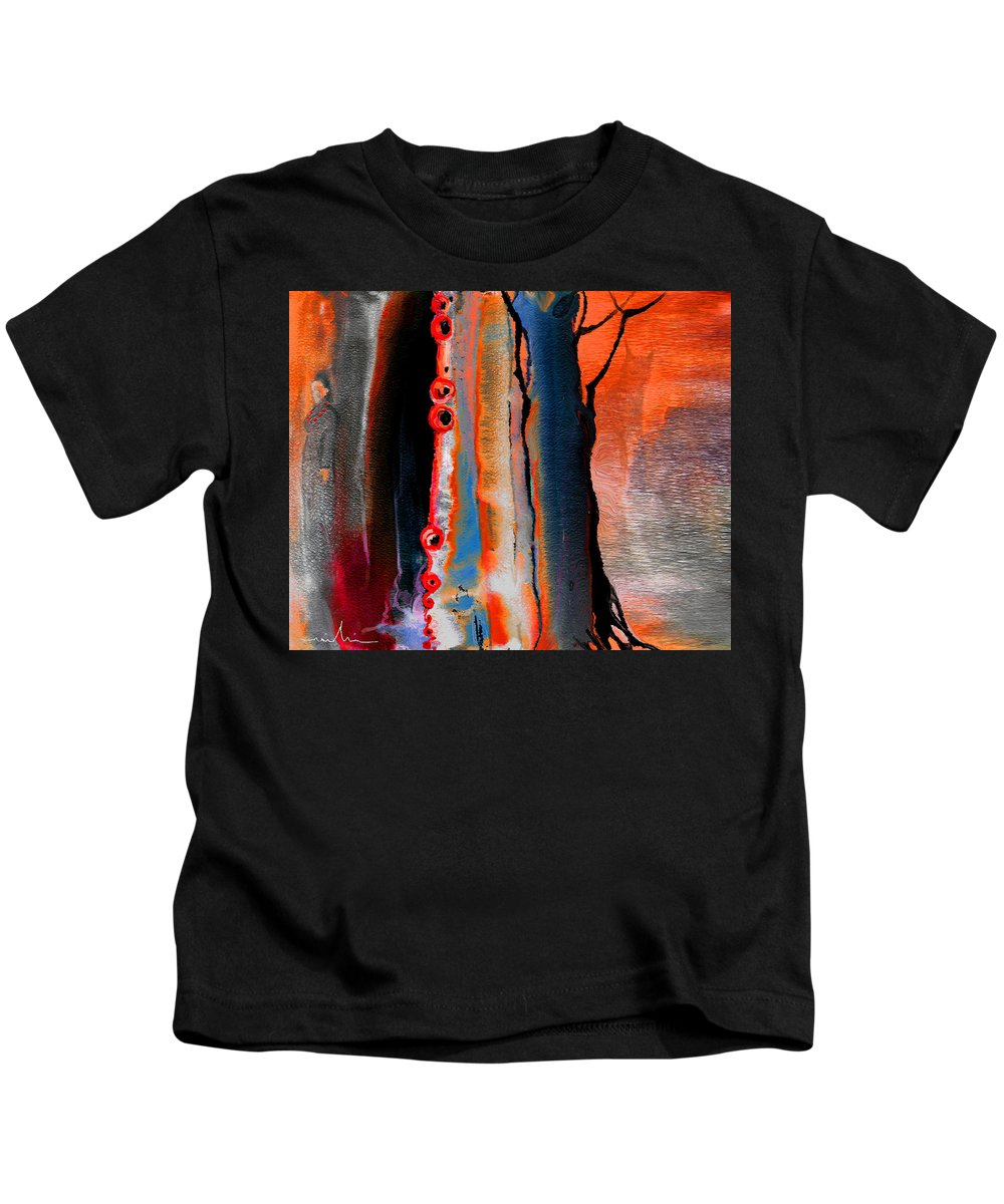 Fantasy Painting Kids T-Shirt featuring the painting The Werewolf by Miki De Goodaboom