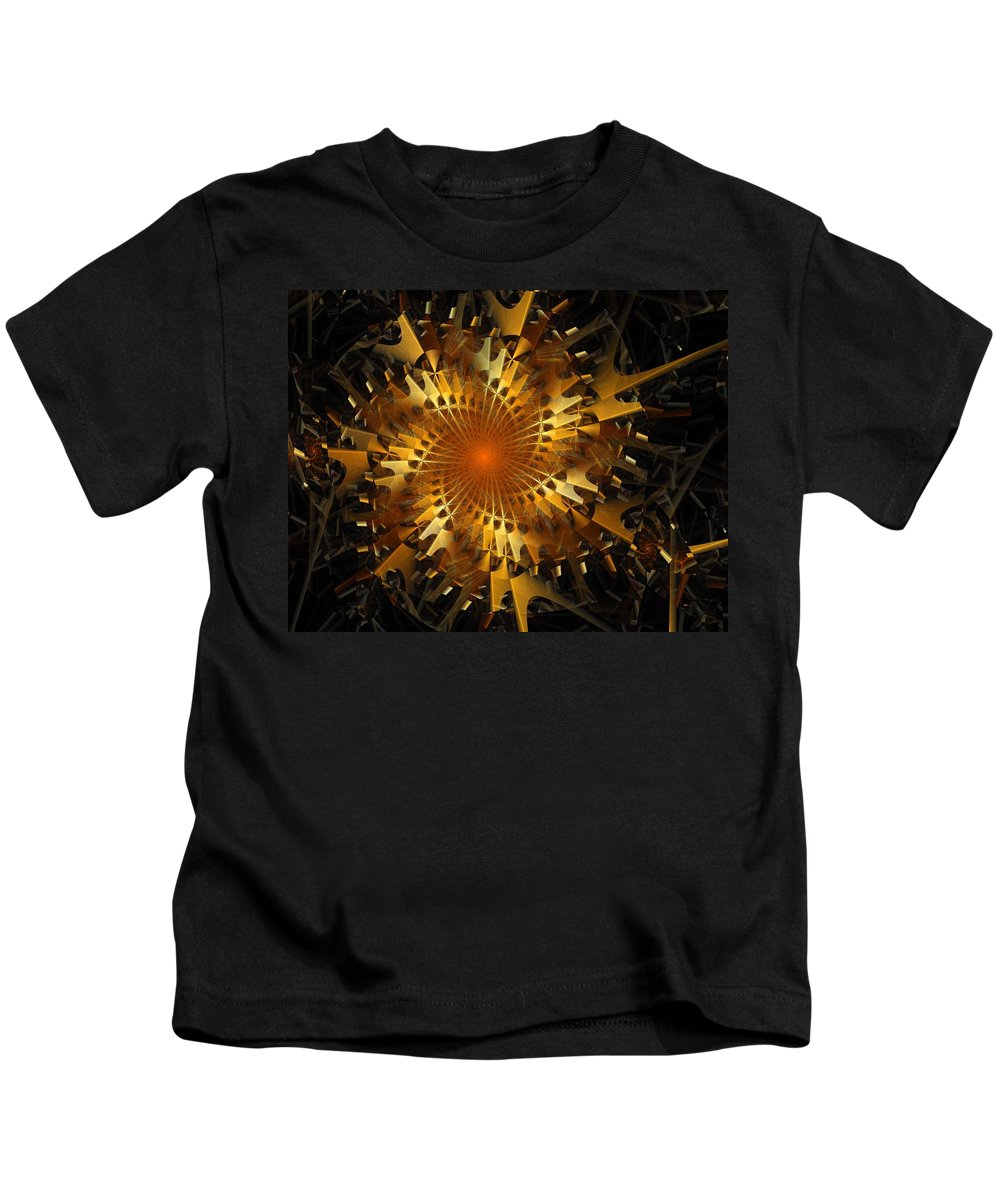 Digital Art Kids T-Shirt featuring the digital art The Wheels Of Time by Amanda Moore