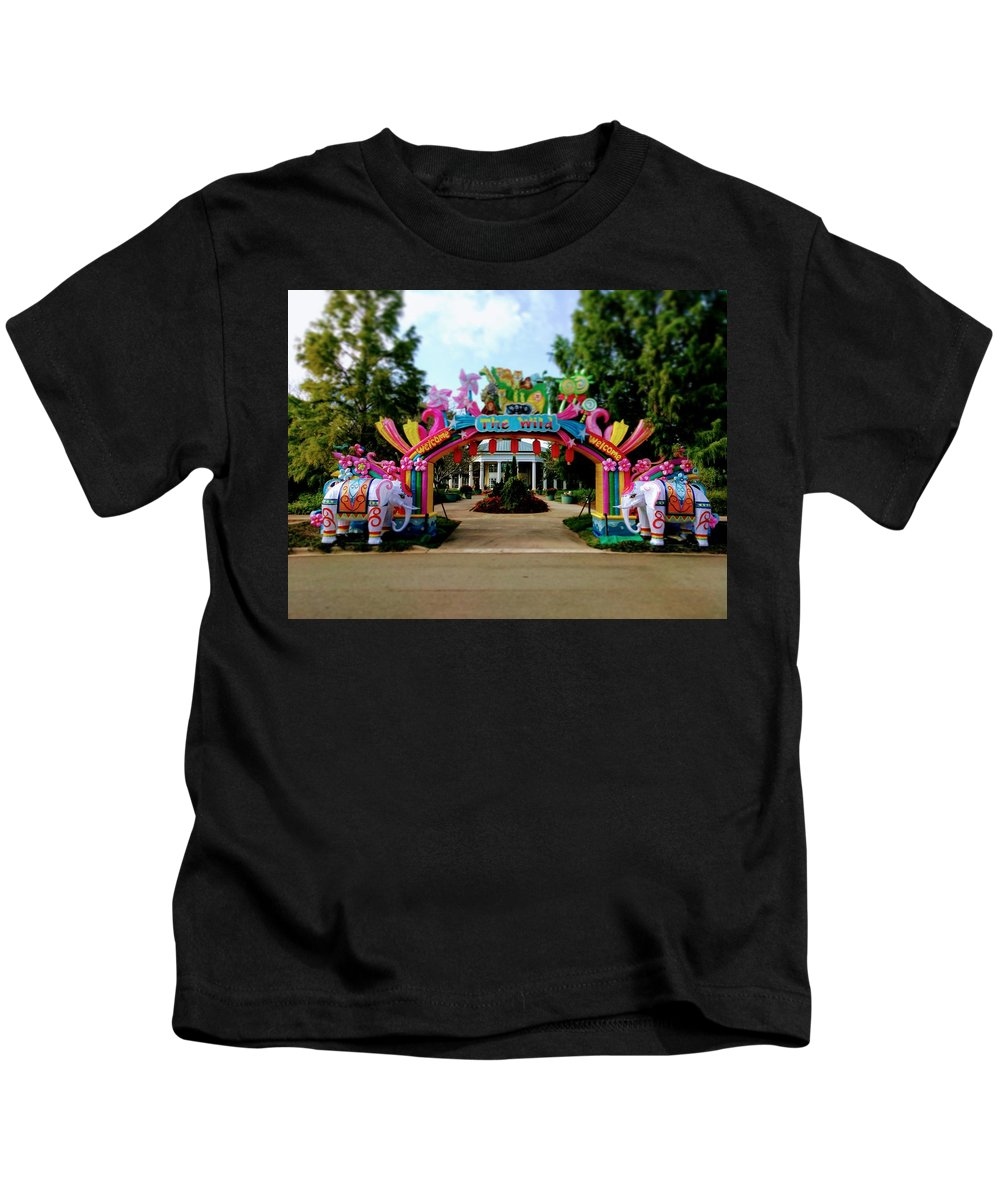 Kids T-Shirt featuring the photograph The Wild by Rodney Lee Williams