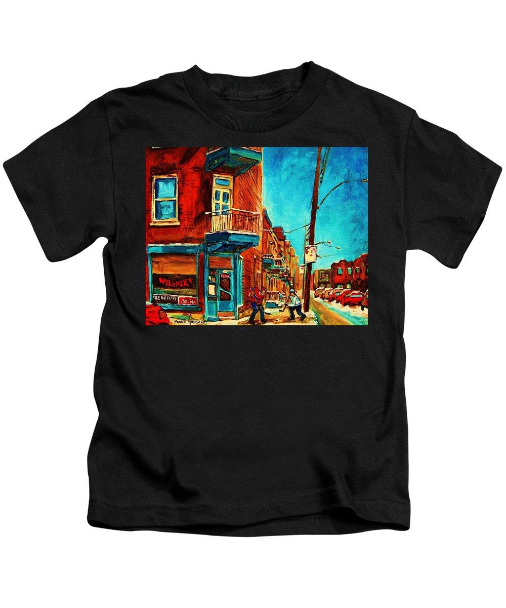 Wilenskys Doorway Kids T-Shirt featuring the painting The Wilensky Doorway by Carole Spandau