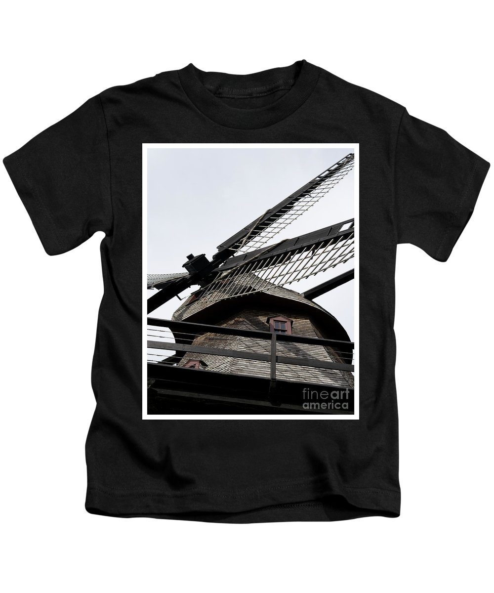 Landscape Kids T-Shirt featuring the photograph The Windmill by Christopher Erickson