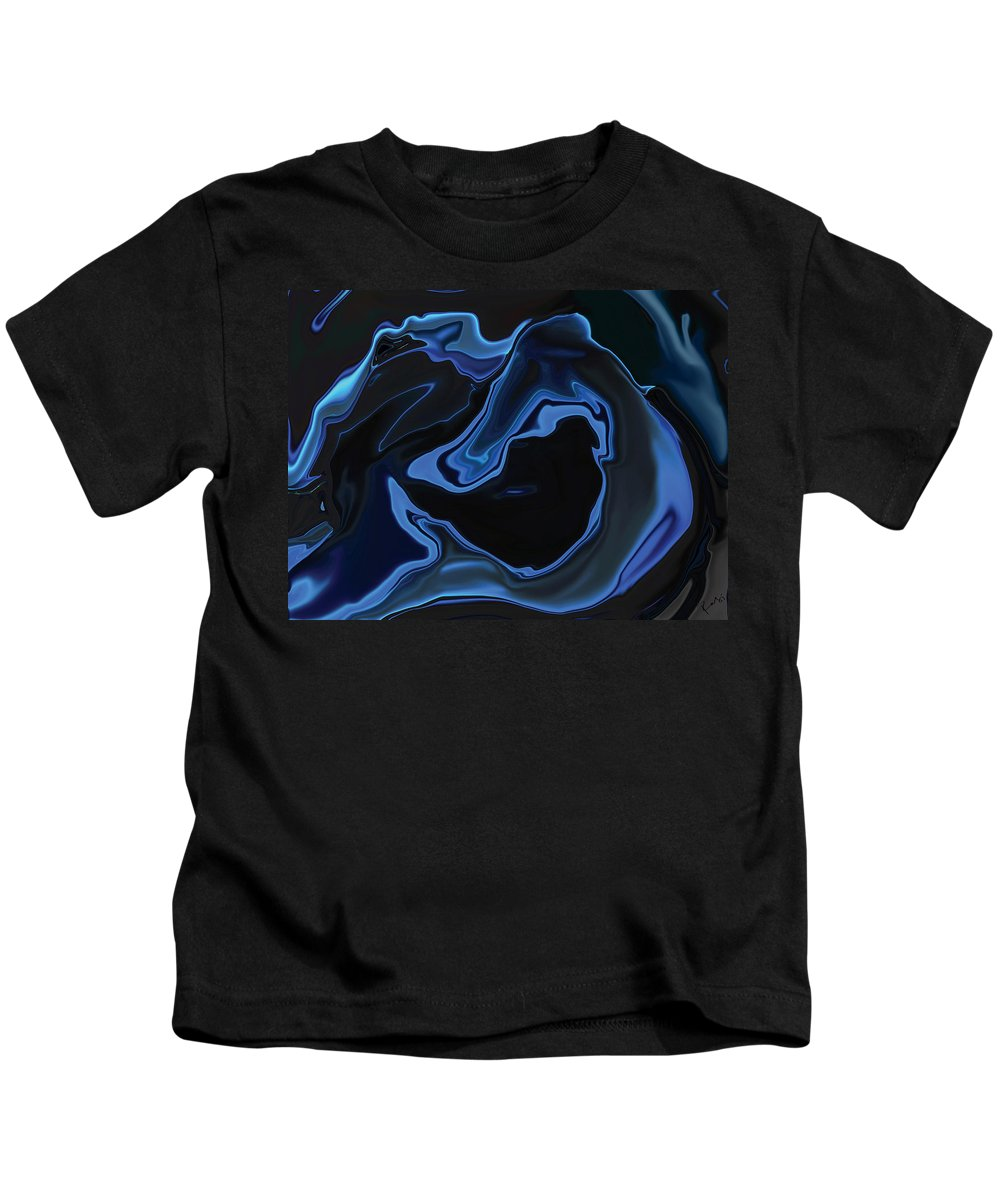 Art Kids T-Shirt featuring the digital art The Young Mermaid by Rabi Khan