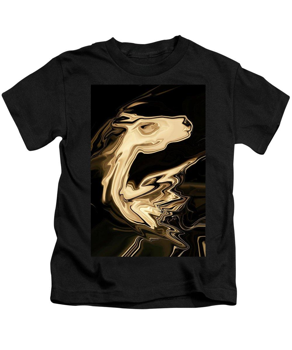 Art Kids T-Shirt featuring the digital art The Young Pegasus by Rabi Khan