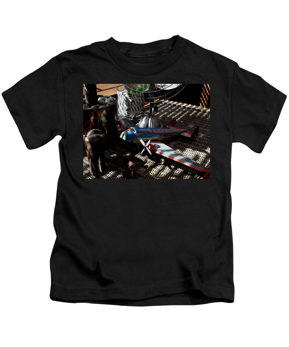 Still Life Kids T-Shirt featuring the photograph The Zebra In Colour by Charles Stuart