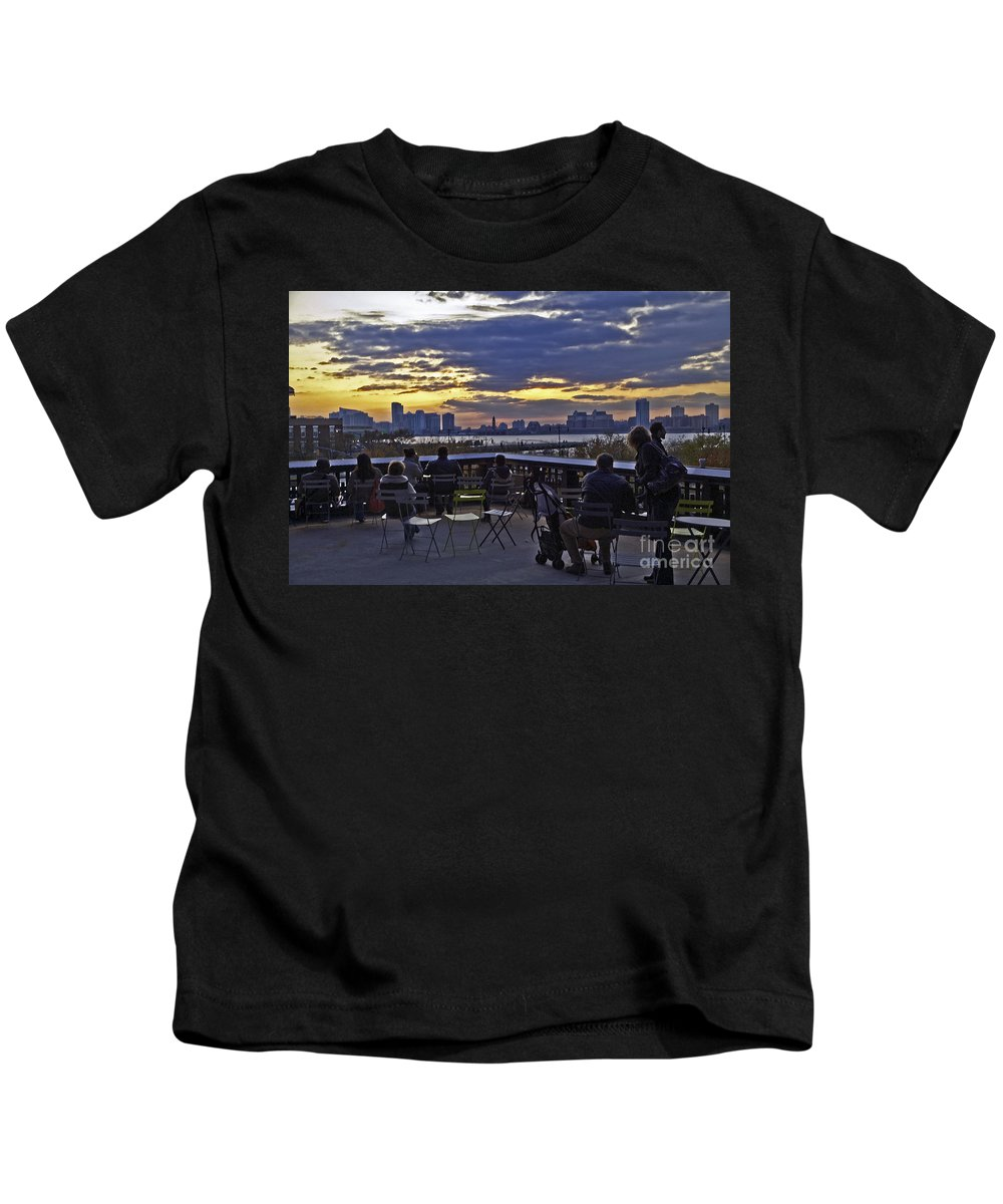 High Line Park Kids T-Shirt featuring the photograph They Came To Look by Madeline Ellis
