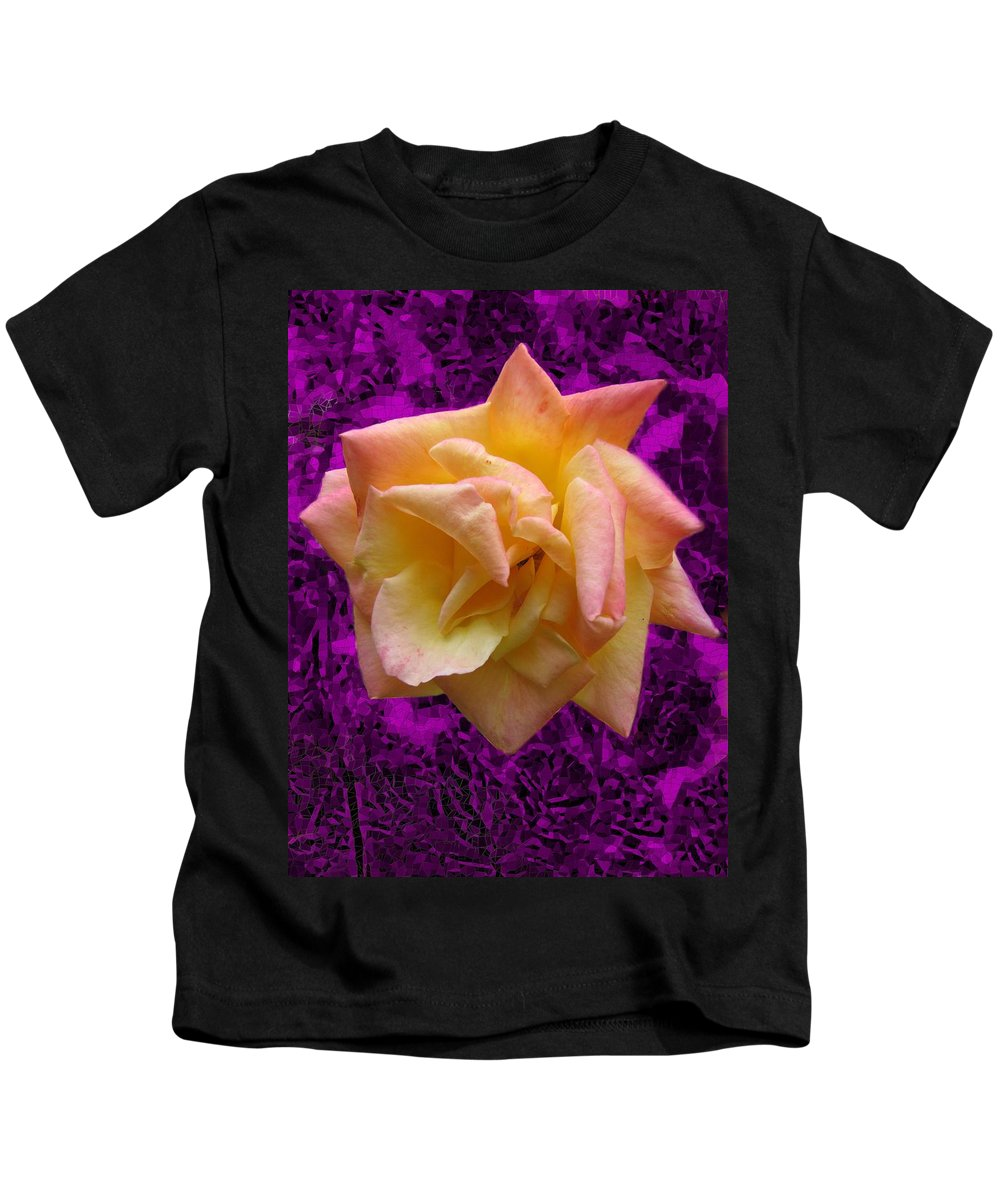 Rose Kids T-Shirt featuring the digital art This Rose For You by Tim Allen
