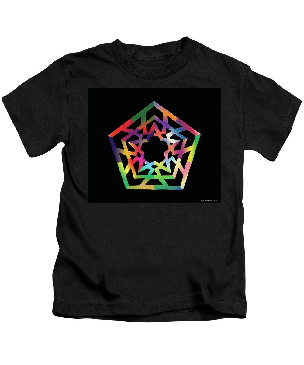 Pentacle Kids T-Shirt featuring the digital art Thoreau Star II by Eric Edelman