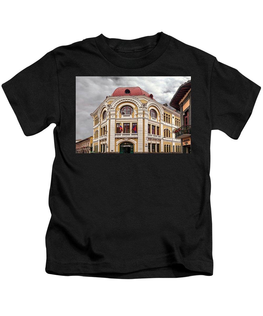 America Kids T-Shirt featuring the photograph Three Arches by Maria Coulson