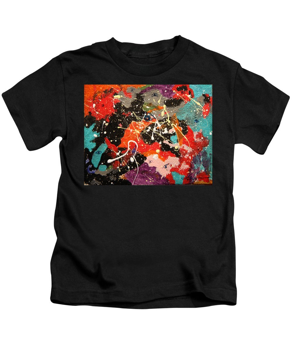 Abstract Kids T-Shirt featuring the mixed media Through The Eyes Of The Universe by J R Seymour