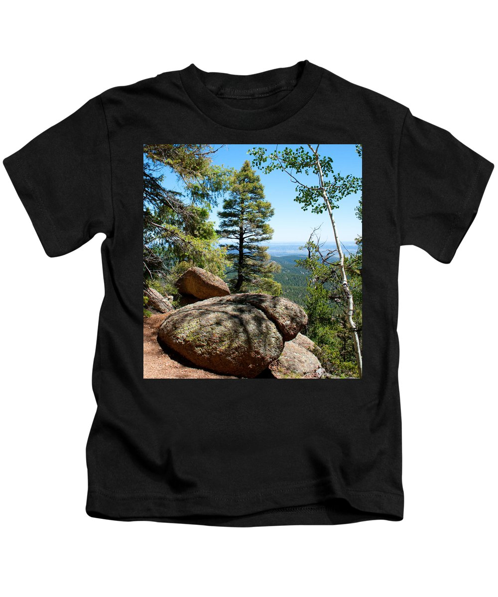 Trees Kids T-Shirt featuring the photograph Through The Trees by Angus Hooper Iii