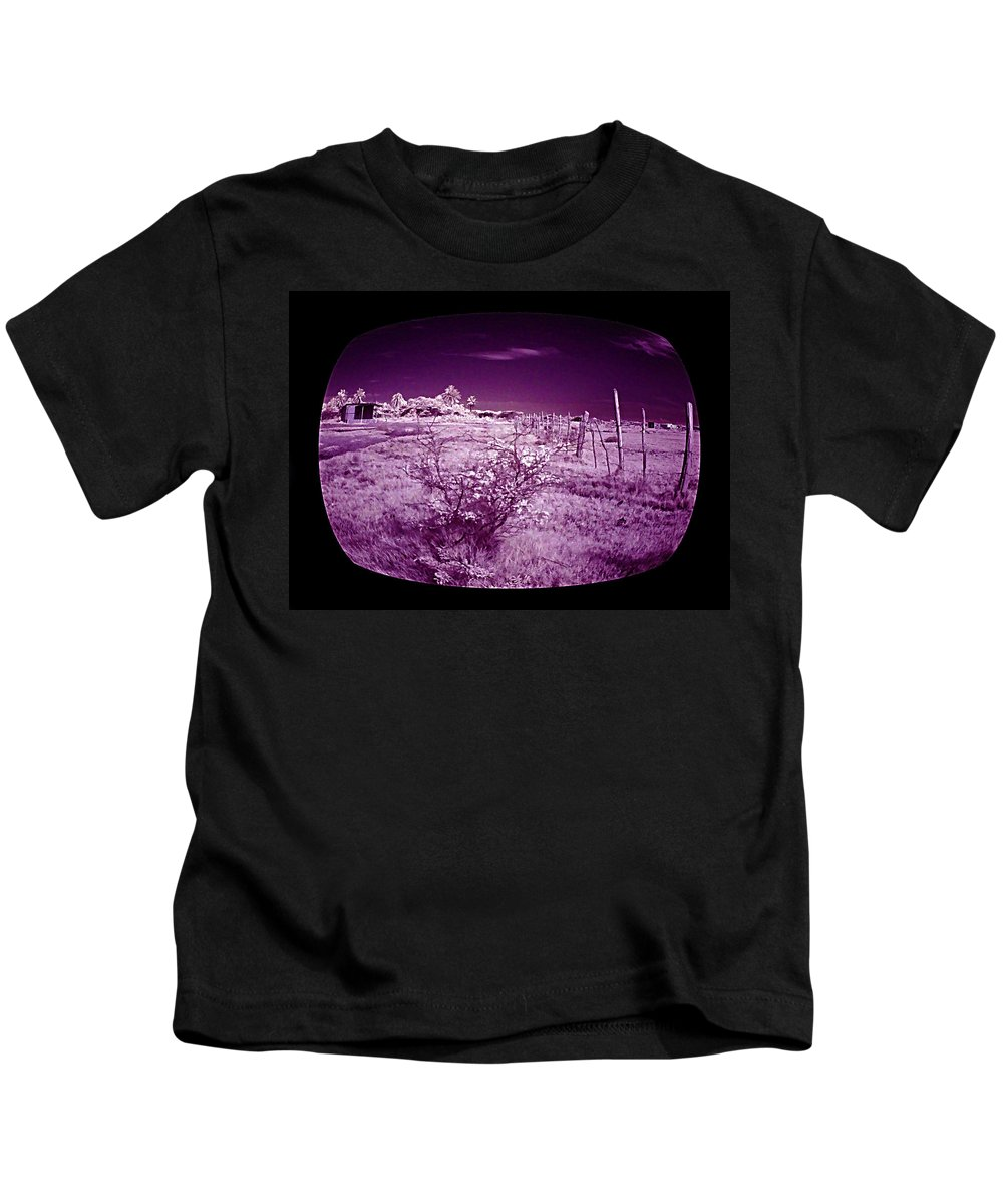Infrared Kids T-Shirt featuring the photograph Through The Tv by Galeria Trompiz