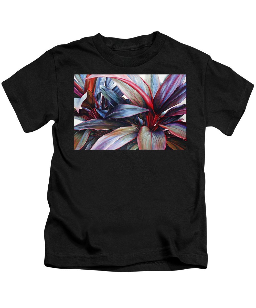 Acrylic Kids T-Shirt featuring the painting Ti In Blue by Sandra Blazel - Printscapes