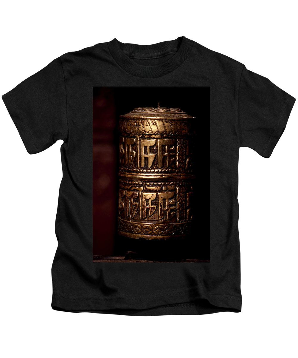 Prayer Wheel Kids T-Shirt featuring the photograph Tibetan Prayer Wheel by Patrick Klauss