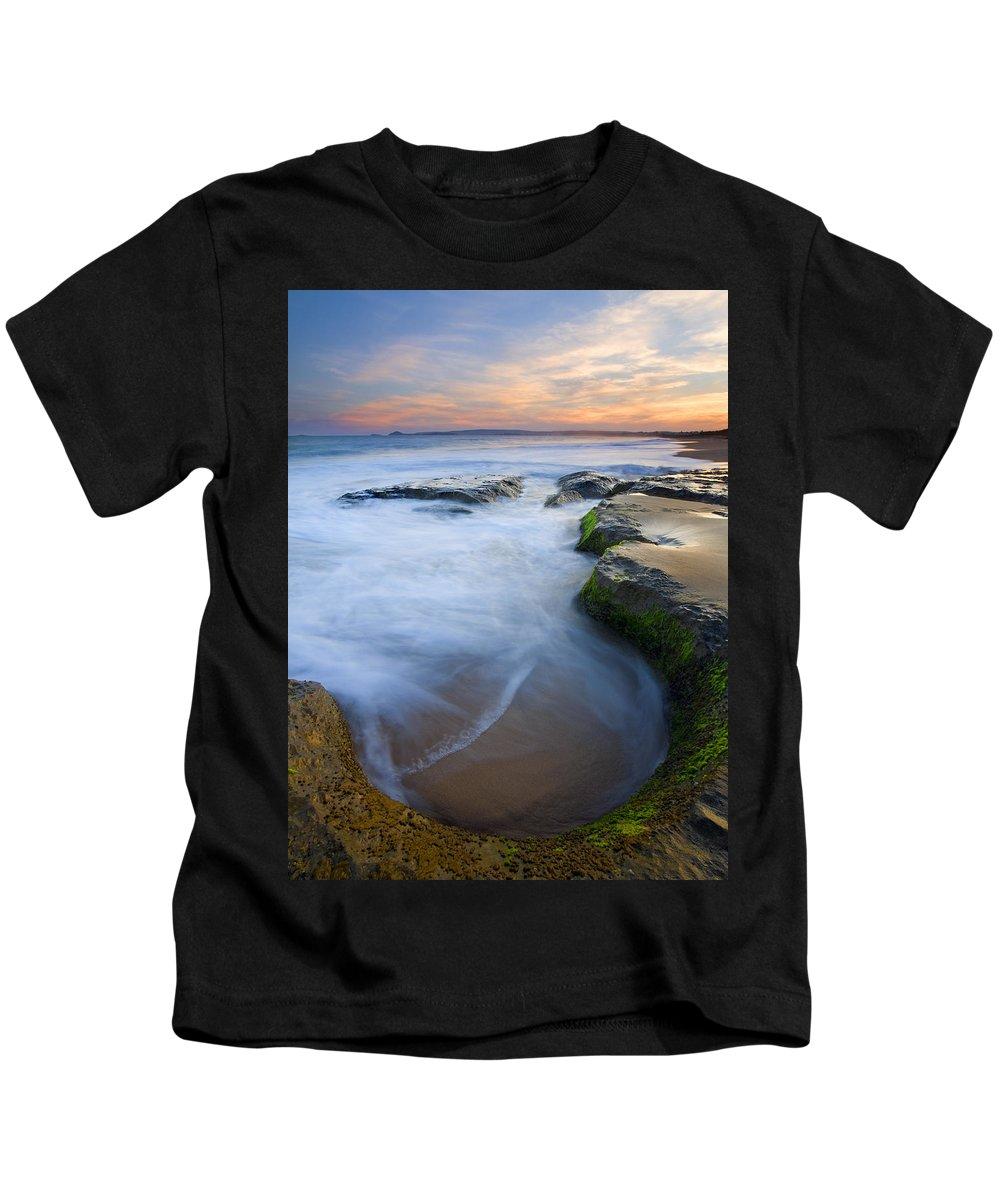 Beach Kids T-Shirt featuring the photograph Tidal Bowl by Mike Dawson