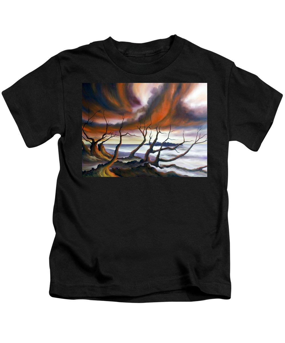 Marsh Kids T-Shirt featuring the painting Tideland by James Christopher Hill