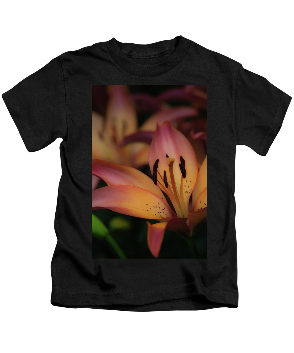 Tiger Lily Kids T-Shirt featuring the photograph Tigress by Trish Tritz