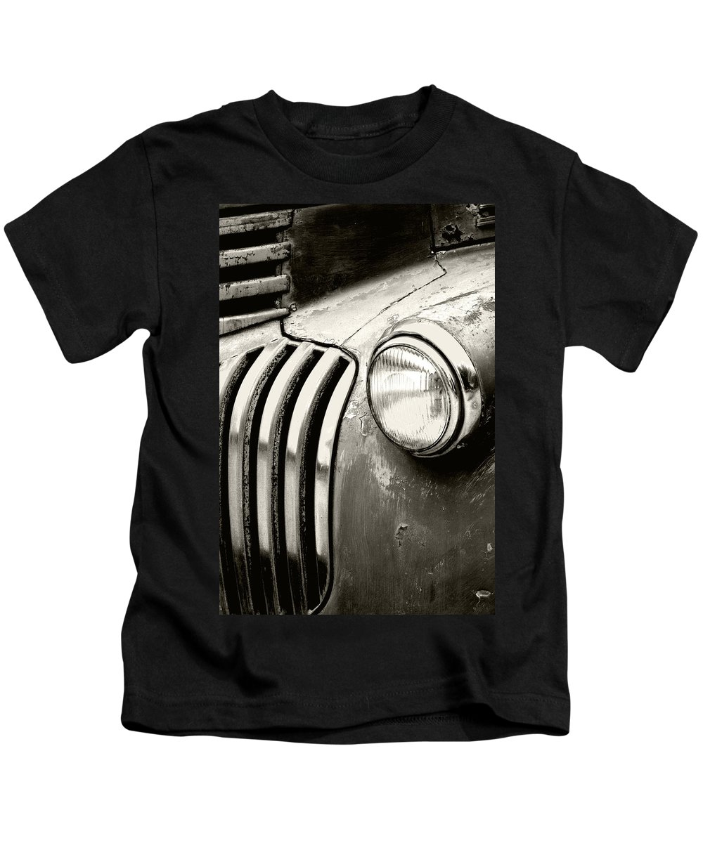 Cars Kids T-Shirt featuring the photograph Time Traveler by Holly Kempe
