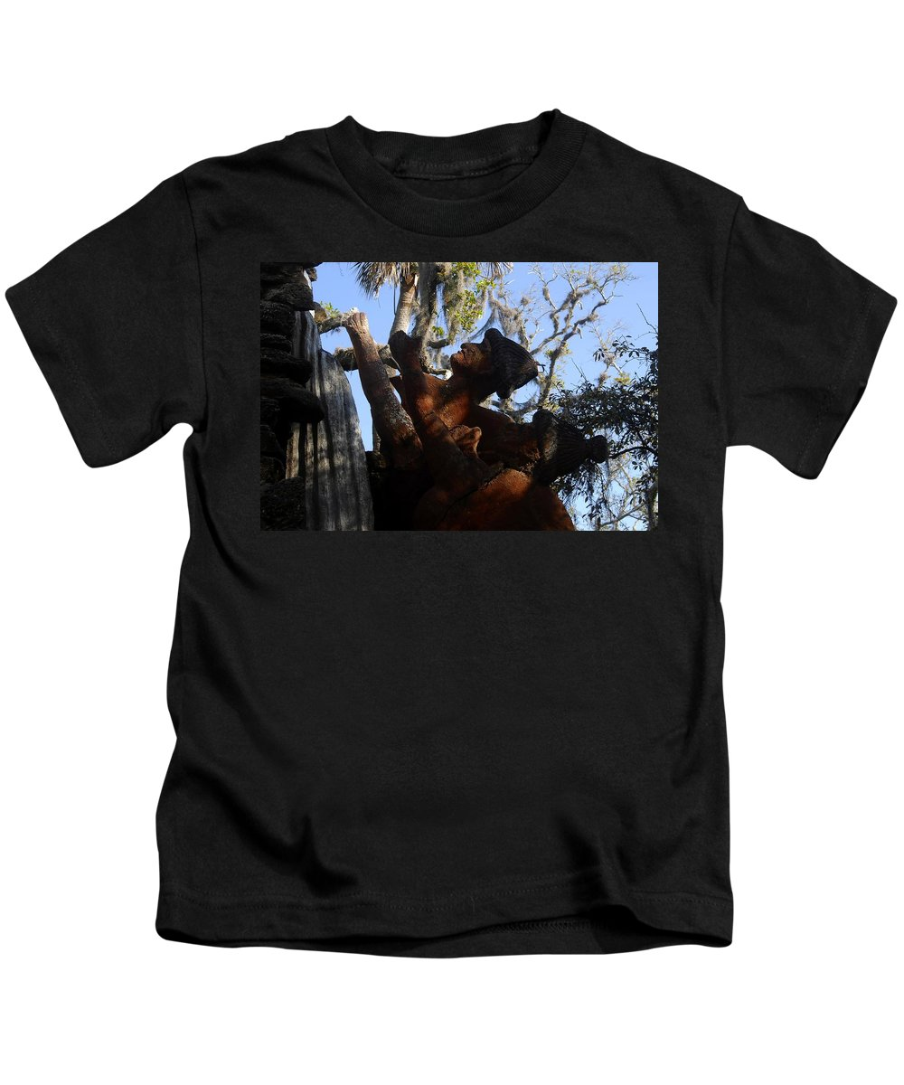 Timucuan Indains Kids T-Shirt featuring the photograph Timucuan Warriors by David Lee Thompson