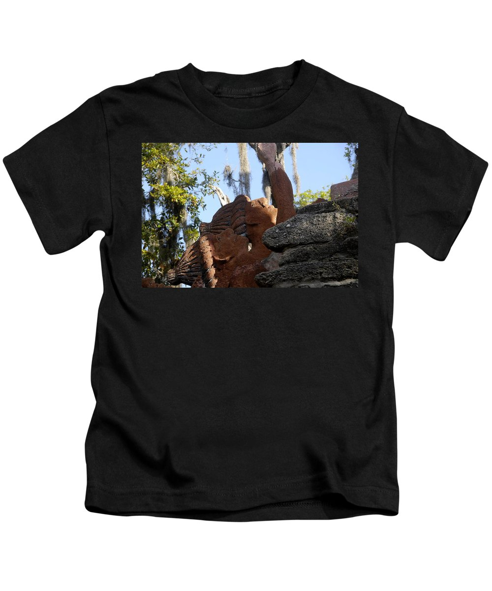 Timucuans Kids T-Shirt featuring the photograph Timucuans by David Lee Thompson