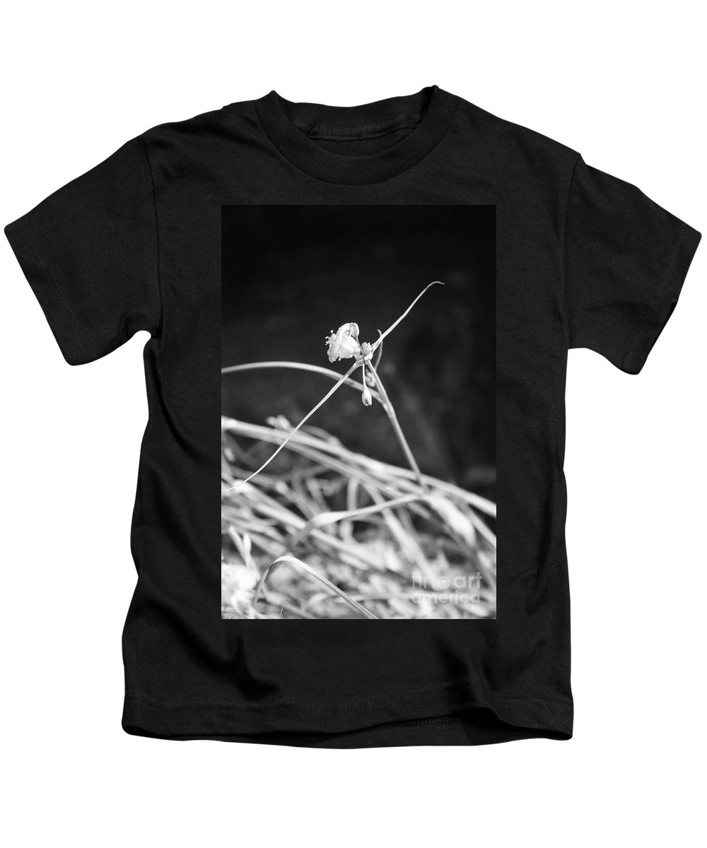 Wildflowers Kids T-Shirt featuring the photograph Tiny Ballerina by Kathy McClure